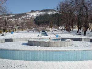 Новите фонтани през зимата