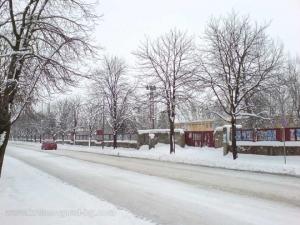 Зимна улица в Крумовград