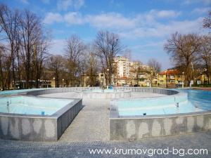 Фонтани в парка в Крумовград