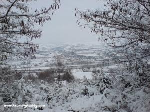 Крумовград зимен изглед от хижата