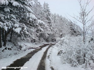 Крумовград пътя към хилата през зимата